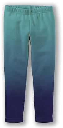 Emma & Elsa Girls' Leggings - Teal Ombre Fleece-Lined Leggings - Toddler