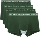 David Archy Men's 4 Pack Micro Modal Separate Pouches Trunks (M,)