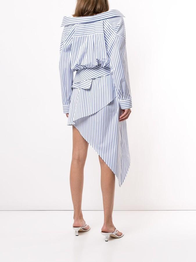 Thumbnail for your product : Alexander Wang Asymmetric Layered-Effect Shirt Dress