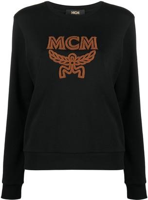 MCM Shearling Logo Sweatshirt