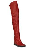 Casadei 90mm Ltd Ed Calfskin Over The Knee Boots