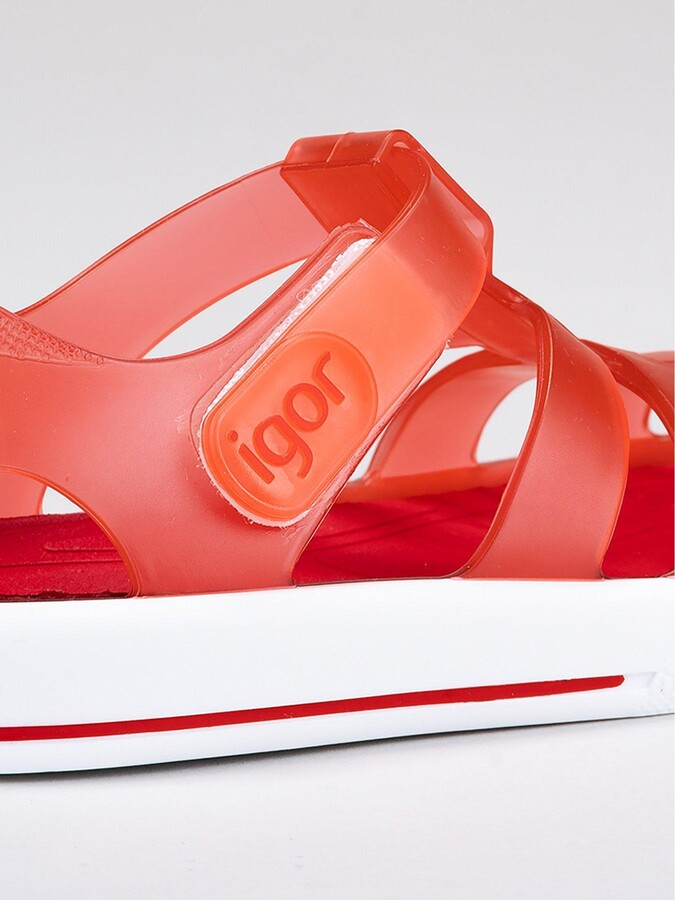Thumbnail for your product : Igor Boys Star Jelly Sandals - Red