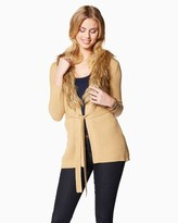 Charming charlie Faux Fur Trim Cardigan