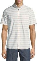Michael Bastian Horizontal Stripe Short-Sleeve Sport Shirt