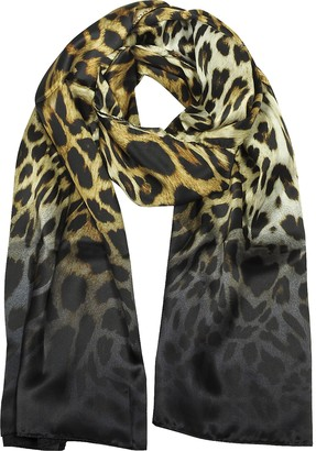 Marina D'Este Leopard Print Pure Silk Stole