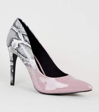 New Look Ombre Snake Print Court Shoes