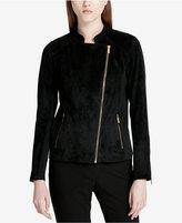 Calvin Klein Faux-Suede Moto Jacket