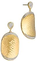 John Hardy Palu 18K Gold Diamond Pave Large Oval Drop Earrings