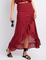 Charlotte Russe Ruffle-Trim Wrap Maxi Skirt