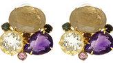 Multi Stone Cluster Earrings