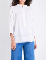 Masscob Textured cotton-poplin shirt