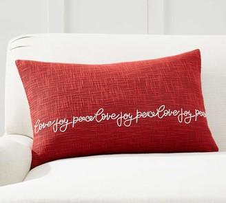 Pottery Barn Dog with lights tangled indoor outdoor Lumbar Pillow NWT Christmas