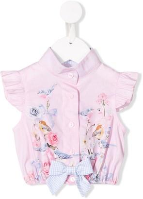 Lapin House Rose print blouse