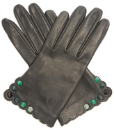 Fendi Studded leather gloves