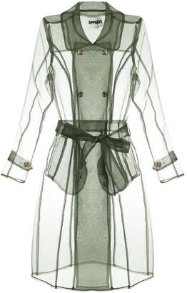 Apparis Transparent Trench Coat