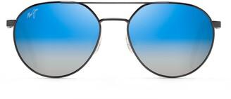 Maui Jim Waterfront 55mm PolarizedPlus2(R) Gradient Round Sunglasses