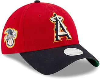 New Era Women's Red Los Angeles Angels 2019 Stars & Stripes 4th of July 9TWENTY Adjustable Hat