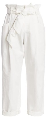 Brunello Cucinelli Paperbag Cotton Linen Trousers