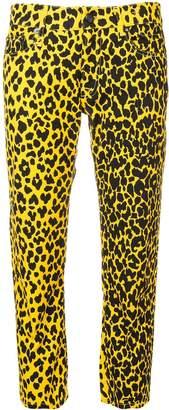 R 13 leopard print jeans
