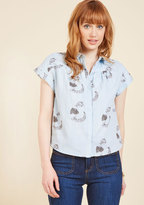 PepaLoves Purr Intentions Button-Up Top in S