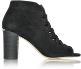 Michael Kors Westley Peep-Toe Suede Ankle Boot