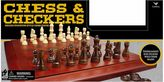 Cardinal Games Wood Chess Cabinet with Checkers