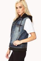 Forever 21 Forever Cool Distressed Denim Vest