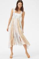 Rebecca Taylor Print Mix Lurex Dress