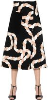 Sportmax Rope Printed Stretch Crepe Midi Skirt