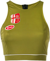 Mr & Mrs Italy - patch detail cropped vest - women - Cotton/Polyester/Viscose - XS