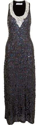 Sonia Rykiel Sequined Ribbed Jersey Gown