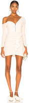 Self-Portrait Self Portrait Sequin Ruffle Mini Dress in Ivory   FWRD