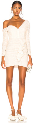 Self-Portrait Self Portrait Sequin Ruffle Mini Dress in Ivory | FWRD