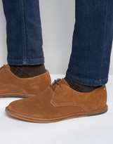 Frank Wright Busby Derby Shoes In Tan Suede