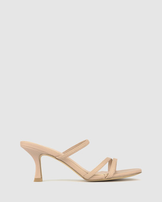 betts Women's Pink Heeled Sandals - Lexi Slip On Sandals - Size One Size, 6 at The Iconic