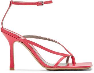 Bottega Veneta Leather Stretch Toe Heels in Lollipop | FWRD