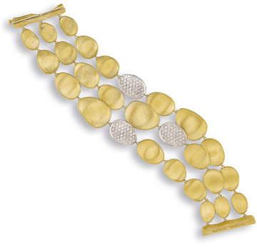 Marco Bicego Lunaria Three-Strand Diamond Station Bracelet