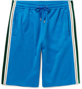 Gucci Wide-Leg Faille and Velvet-Trimmed Jersey Shorts