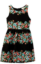 Soprano Floral Print A-Line Dress (Little Girls & Big Girls)