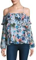 Tanya Taylor Daisy Off-The-Shoulder Top