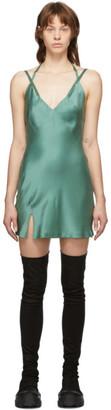 Haider Ackermann Green Dali Camisole Dress