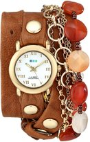 La Mer Women's LMMULTI9001 Sedona Stones Chain Wrap Watch