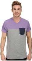 U.S. Polo Assn. Three Color Blocked V-Neck T-Shirt