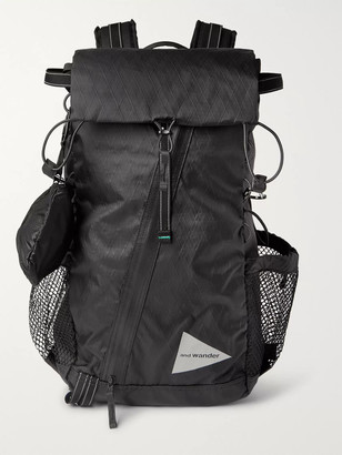 and wander Logo-Print X-Pac Shell and Mesh Backpack - Men - Black