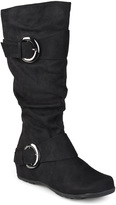 Journee Collection Black Jester Extra Wide-Calf Boot