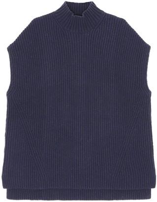 Ganni Wool Blend Rib Knit Vest