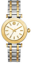 Tory Burch The Classic T Two-Tone Bracelet Watch