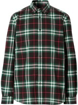 Burberry check poplin buttoned shirt