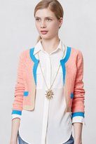 Anthropologie Colorblock Cropped Cardigan