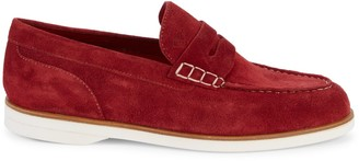 Canali Moc-Toe Suede Penny Loafers